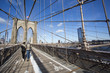 The Brooklyn bridge pedestrian walkway and cycle path.