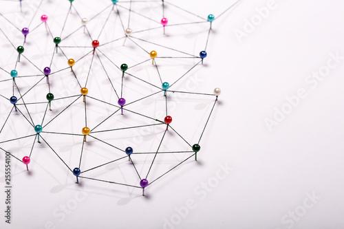 Fotografia  Linking entities. Network, networking, social media, internet co