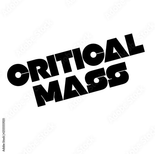 Fotografía  Critical Mass stamp on white