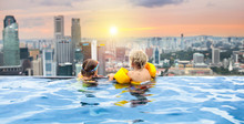 Kids Swim In Singapore Roof To...