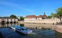 Strasbourg - France - Tourist River Boat In Historical District