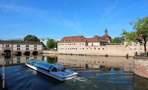 Fotografie, Obraz  Strasbourg - France - tourist river boat in historical district