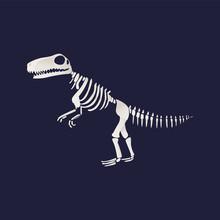 Vector T-rex Dinosaur Fossil S...