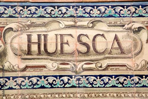 Huesca Sign; Plaza de Espana Square; Seville