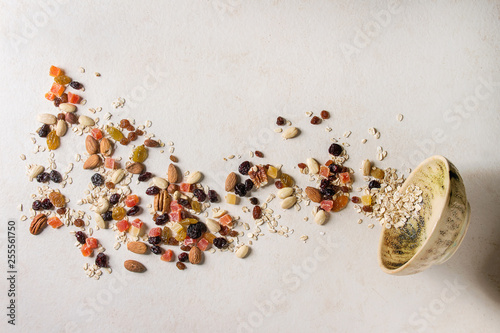 fototapeta na drzwi i meble Variety of dried fruits and nuts