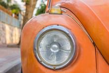 Soft Orange Vintage Car Headli...