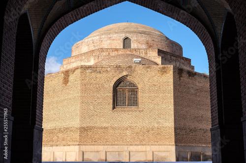 Fototapeta Dome of the Kabud Mosque or Blue Mosque of Tabriz, Iran obraz na płótnie