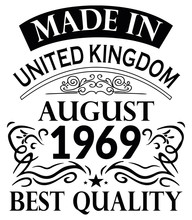 Made In United Kingdom August ...