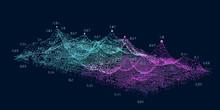 Abstract  Big Data Concept. Fu...