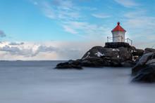 Eggum Lighthouse On The Lofoten Islands In Norway