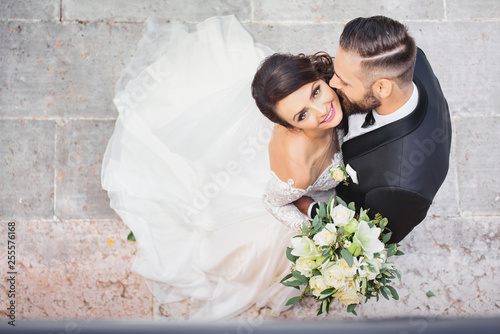 Photo  beautiful wedding couple