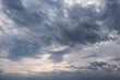 Beautiful Sky with Clouds On Evening