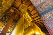 Reclining Golden Buddha Statue...