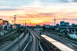 Berlin Sonnenuntergang mit Fernsehturm