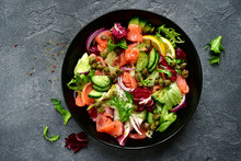 Vegetable Salad With Salted Sa...