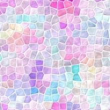 Abstract Nature Marble Plastic Stony Mosaic Tiles Texture Background With White Grout - Light Pastel Pink Blue Purple Violet Gray Mauve Colors