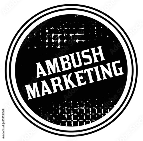 ambush marketing advertising sticker Canvas Print