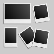 New Photo Frame Mockup Design. White Border On A White Background. Vector Illustration EPS10.