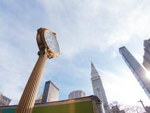 Cast Iron Street Clock On Fift...