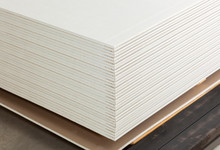 Stacking Of White Gypsum Panels