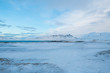 Iceland's winter natural scenery