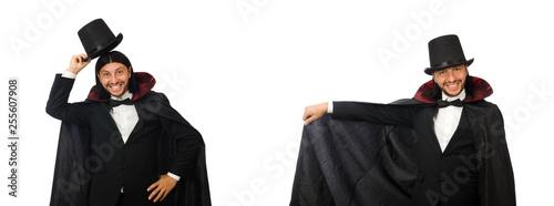 Obraz na płótnie Man magician isolated on white