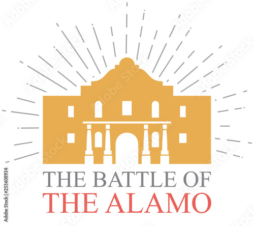 The Battle of the Alamo design Wallpaper Mural