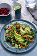 Salad with avocado, quinoa and butternut squash