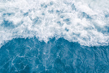 Pale Blue Sea Wave During High...