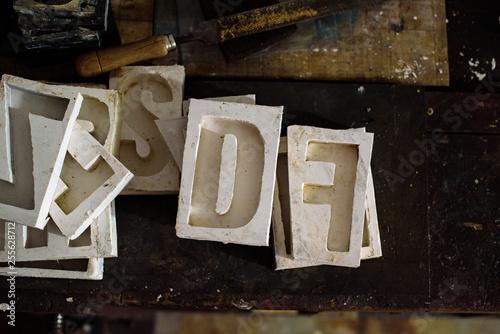 Fotografía  taller tipografia