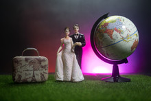 Just Married Travel Concept. A...
