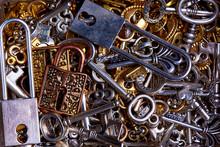 Set Of Vintage Keys And Locks ...