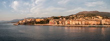 The City Of Bastia Lit By The Morning Sun Viewed From The Ship