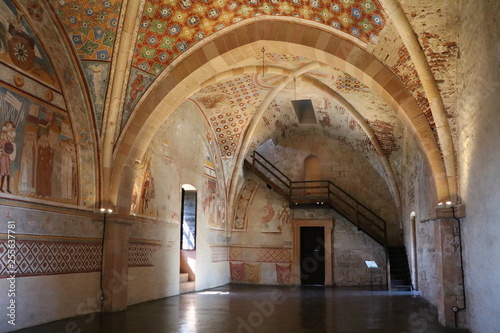 Inside of Castle Rocca d'Angera in Angera at Lake Maggiore, Italy Slika na platnu