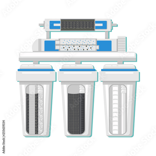 Fotomural  Water Filter in Cut Color Vector Illustration