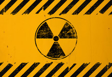 Black Radioactive Sign Over Ye...