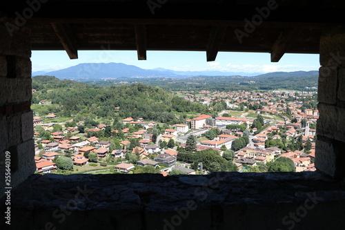 Fotografering  Castle Rocca d'Angera in Angera at Lake Maggiore, Italy