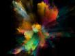 canvas print picture - Fractal Color