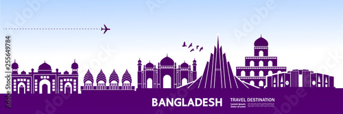 Bangladesh travel destination vector illustration. Fototapete