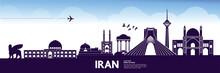 IRAN Travel Destination Vector Illustration.
