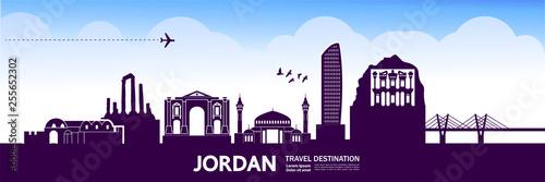 Fototapeta Jordan travel destination vector illustration.