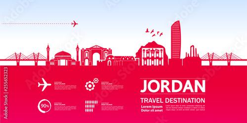 Valokuva Jordan travel destination vector illustration.
