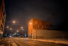 Urban Winter Street City Night...
