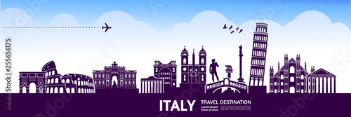 Fotografie, Obraz ITALY travel destination vector illustration.