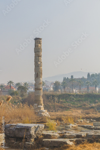 Fotografie, Obraz  Ruins of Temple of Artemis, one of the Seven Wonders of the Ancient World, near