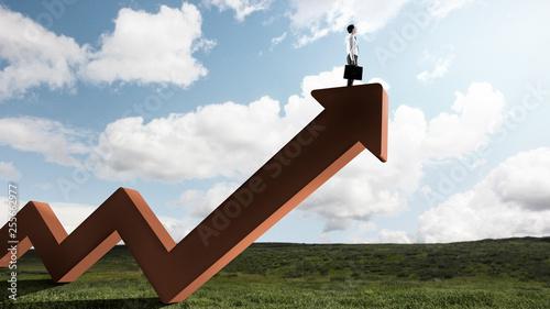 Fotografie, Obraz  His progress and success. Mixed media