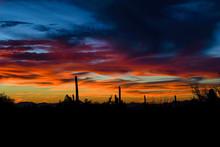 Bright Desert Sunset