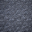 Procedural stylized brick wall. 3d render