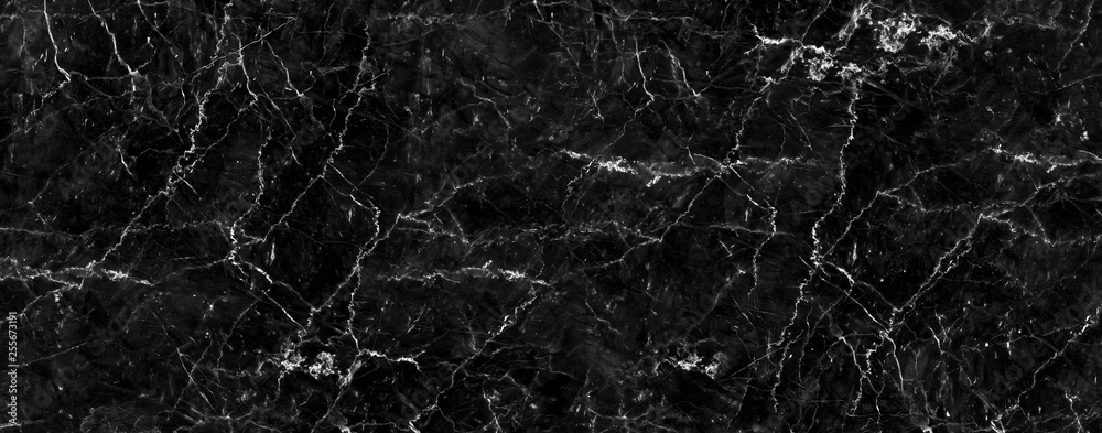 Fototapety, obrazy: Natural black marble texture for skin tile wallpaper luxurious background, for design art work. Stone ceramic art wall interiors backdrop design. Marble with high resolution