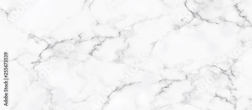 Fototapeta White marble background texture natural stone pattern abstract for design art work. Marble with high resolution obraz